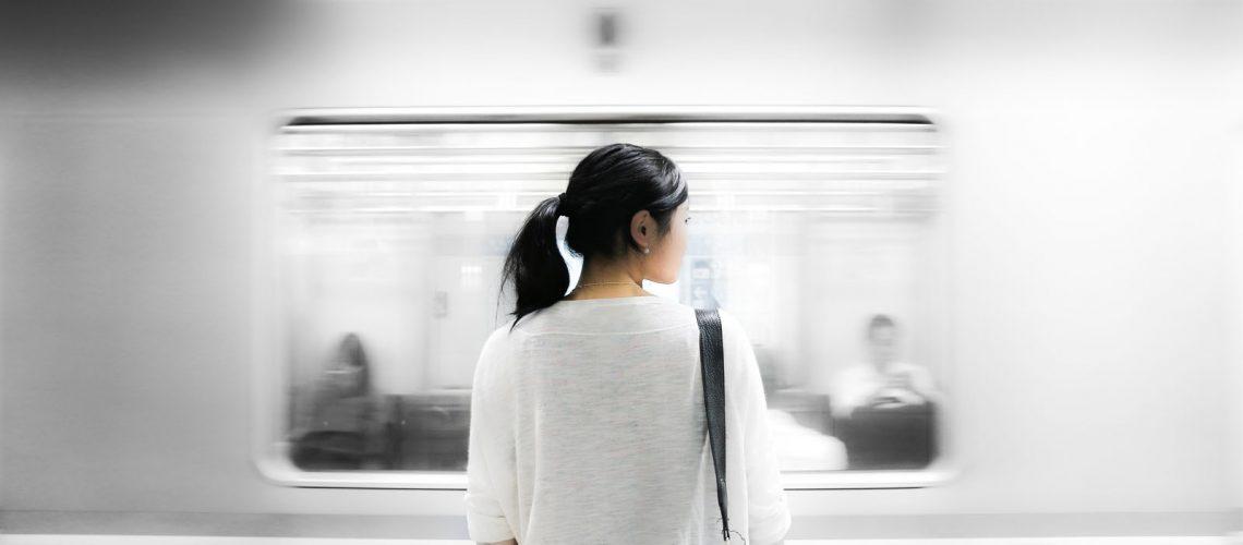 Girl at station
